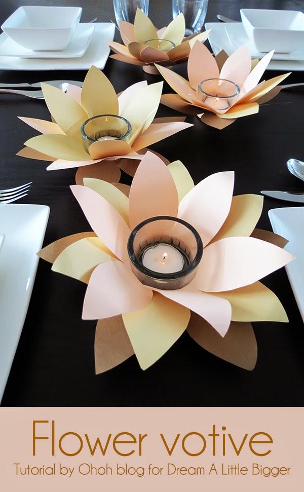 DIY Flower votive