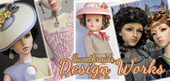 One of a kind couture, face-ups & accessories for collectible dolls: