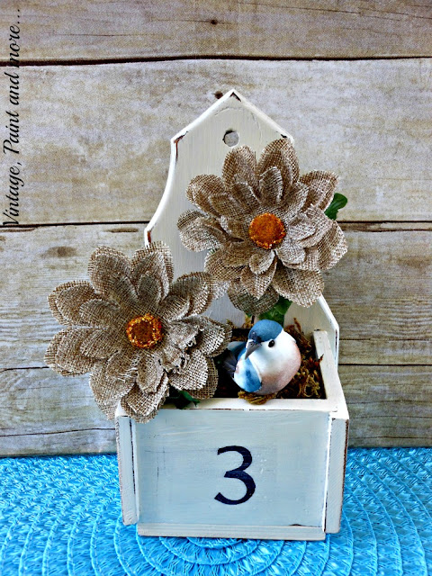 Vintage, Paint and more... vintage thrifted box DIY'd into a flower box with chalk paint and stenciling