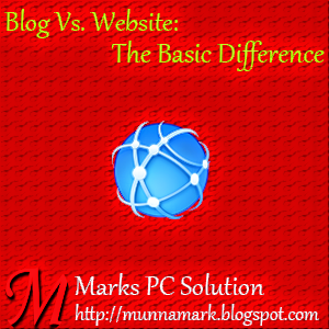 Basic Difference between Blog and Website