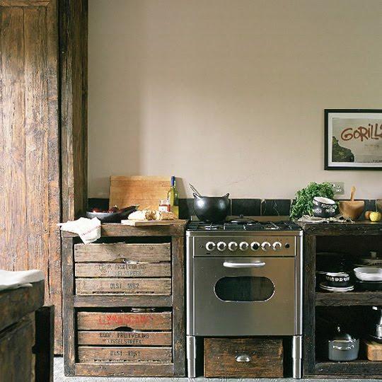 mucho reciclaje: como muebles de cocina