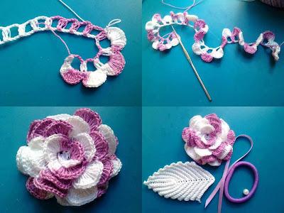 Paso a paso: hermosa flor combinada al crochet