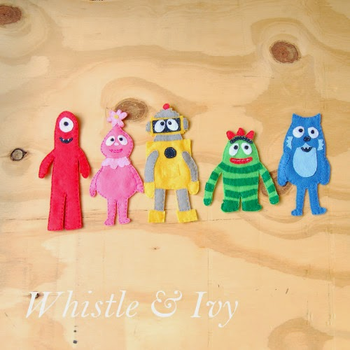 Sewing templates for DIY Yo Gabba Gabba Felt Mangets