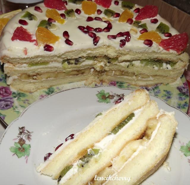 торт фруктовый тропикана