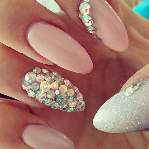 Light Pink Nail Designhttp9ailssidespotnail Side