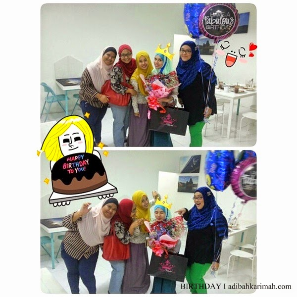 Adibah Karimah sambut birthday bersama Awesomazing Team di Cotton Craft Shah Alam