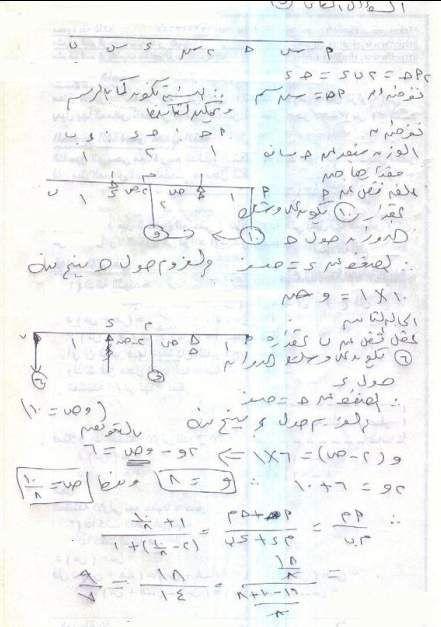 امتحان الميكانيكا والاجابة النموذجية للثانوية العامة 2012 5