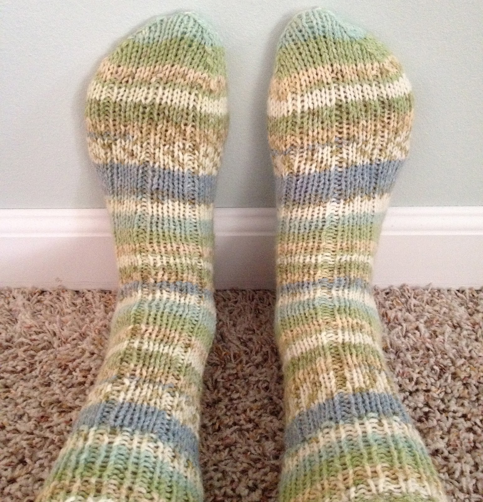 ChristinaPurls...: DK Ribbed Sock Pattern