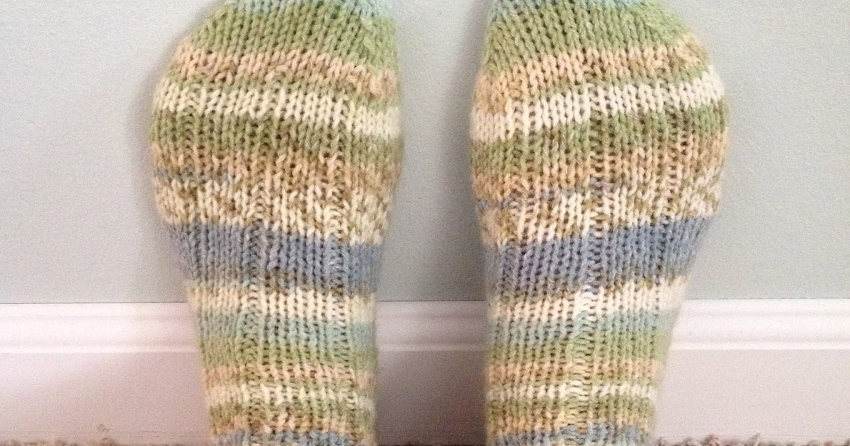 ChristinaPurls...: DK Ribbed Sock Pattern