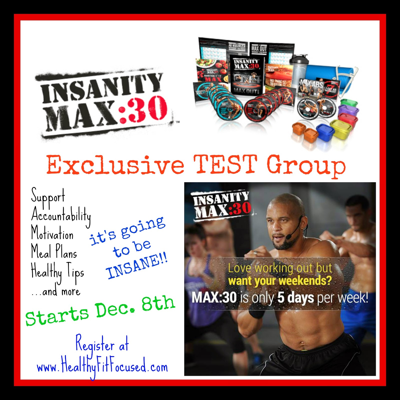 Insanity Max 30 Test Group, www.HealthyFitFocused.com