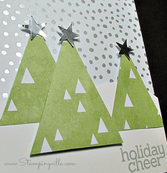 Simple handmade card using patterned paper scraps | Stampingville #cardmaking #papercrafts #Christmas #Stampinup