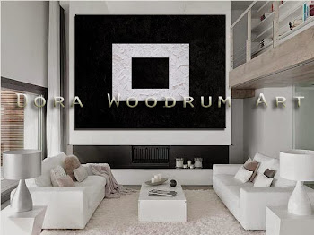 "Original Abstract Painting ""Black & White"" by Artist Dora Woodrum"
