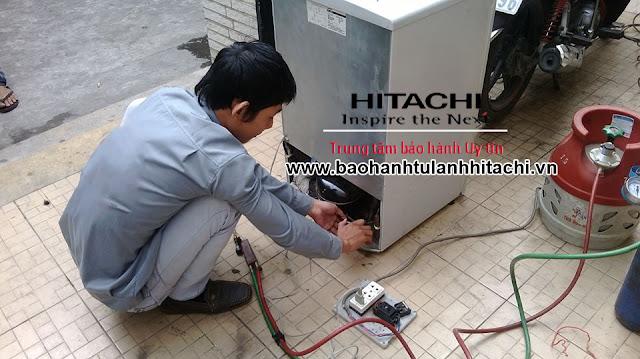 Nạp gas tủ lạnh Hitachi tại nhà Hà Nội