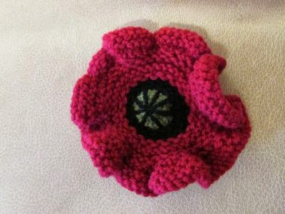 Knitting Patterns To Make Poppies : Paulineknit ~ A life of hand knitting : Knitted poppies