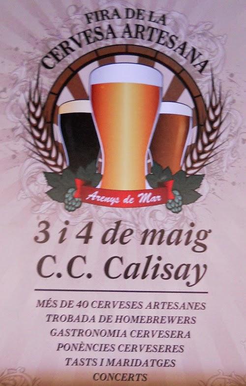 cartel de la fiesta de la cerveza artesanal de Arenys de Mar