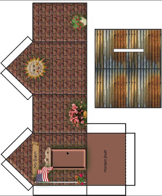 Moldes de casas para imprimir recortar e montar ou for Como hacer una casa clasica de ladrillo en minecraft