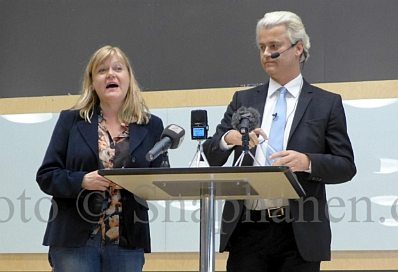 Ingrid Carlqvist and Geert Wilders in Malmö