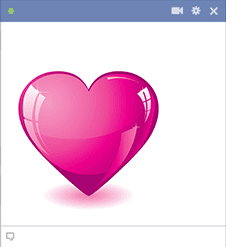 Pink Heart Sticker on Facebook
