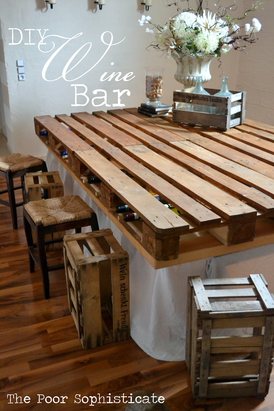 The Poor Sophisticate Completely Free Pallet Wine Bar