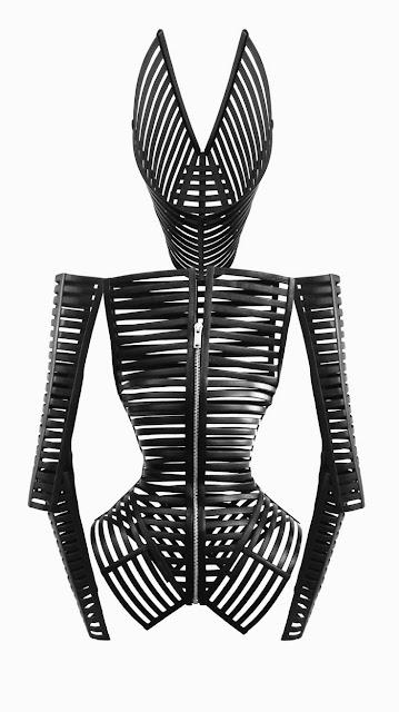 Fetish FAshion : Gareth Pugh Black Leather Cage Jacket