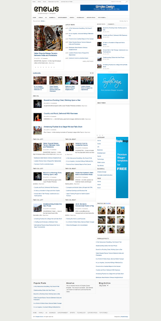 Simplex Enews Blogger Template