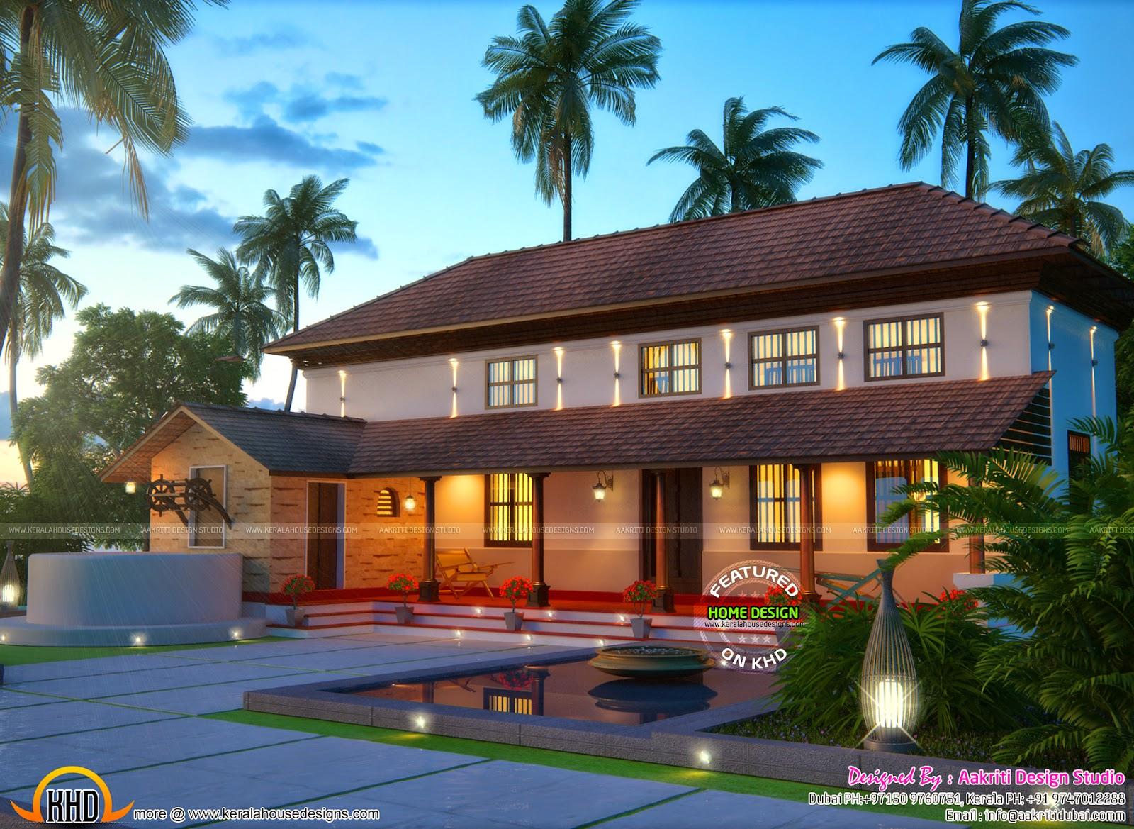 Pure Kerala Traditional Farmhouse Kerala Home Design And