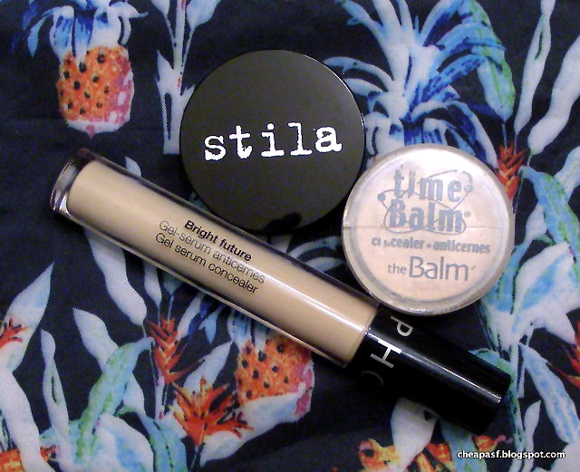 Sephora Collection Bright Future Gel Serum Concealer in Fondant vs. theBalm Time Balm Concealer in Lighter than Light in vs. Stila Stay All Day Concealer in Fair