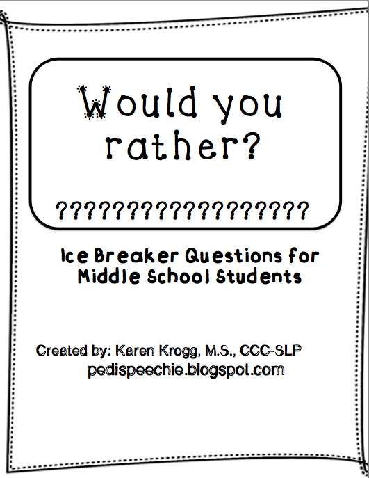 Would You Rather Worksheets The Pedi Speechie – Ice Breaker Worksheets