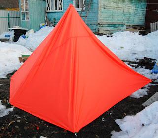 тент палатка пирамида самодельная