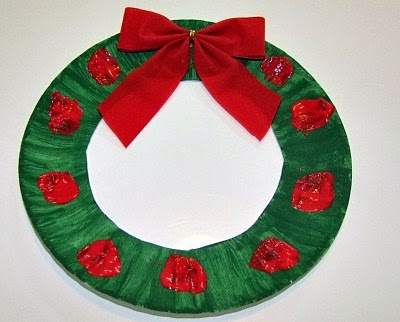 Paper plate for Christmas craft ~ art craft projects