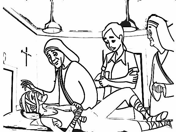 Dibujos para Colorear de la Madre Teresa de Calcuta