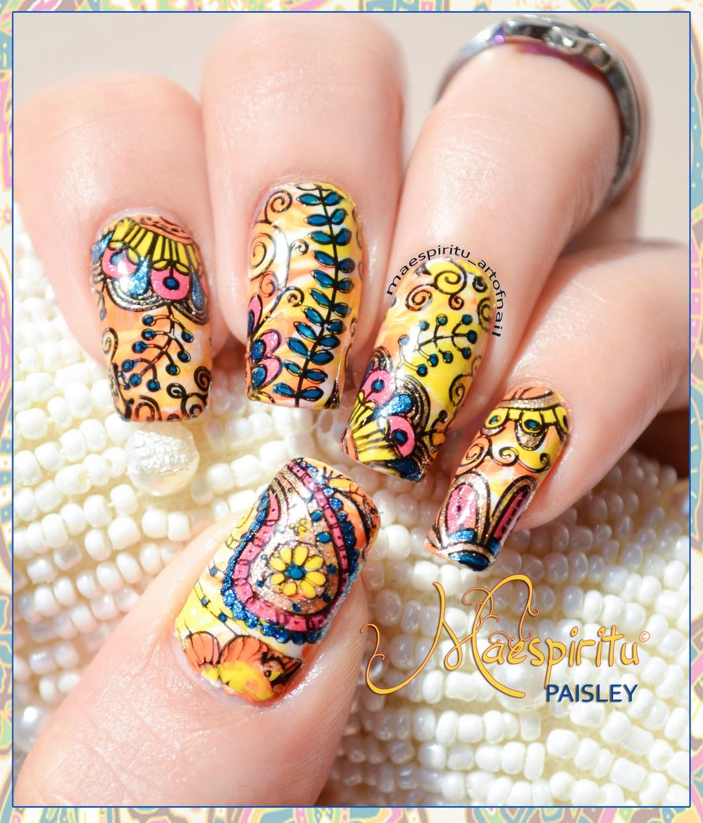 Paisley Nail Art: ART OF NAIL: Paisley Nail Art