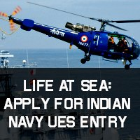 Life at Sea: Apply for Indian Navy UES entry
