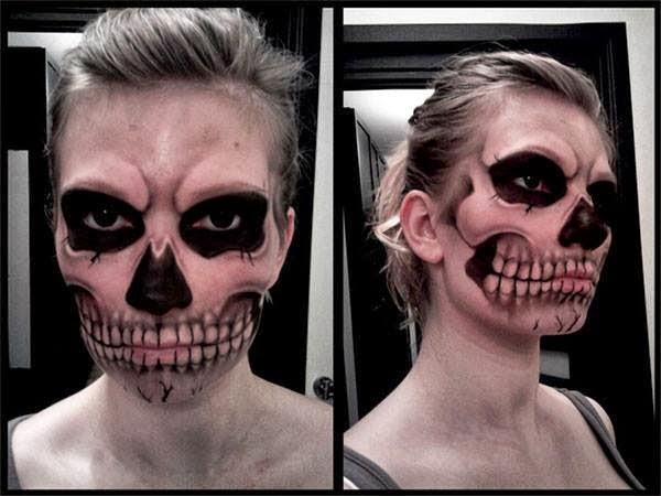 Макияж для подростка для хэллоуина