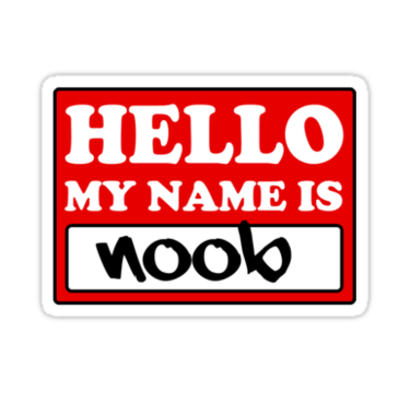 Noob sticker