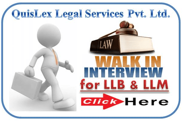 QuisLex Legal Services Walkin Interview