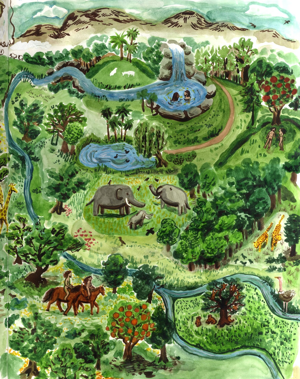 Map Of The Garden Of Eden Video Search Engine At