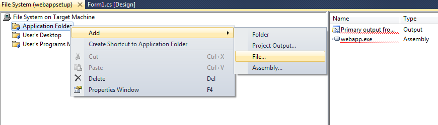 add icon to setup file in vs2010