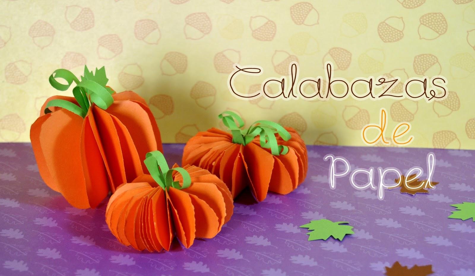 Calabazas origami para hacer con los ni os manualidades - Calabazas de halloween manualidades ...