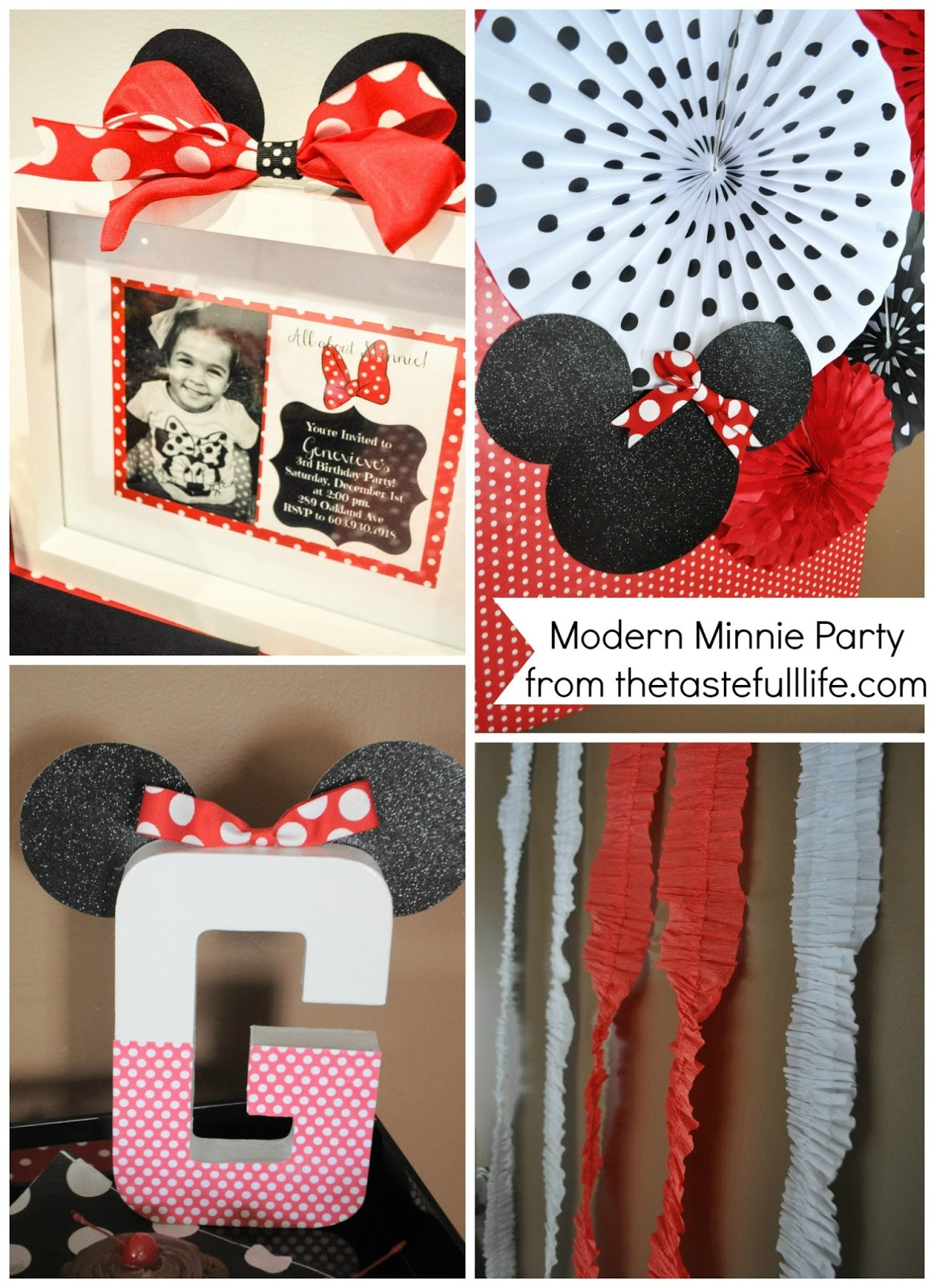 Modern minnie mouse party decor favors pretty real minnie mouse birthday party ideas from tastefull amipublicfo Choice Image