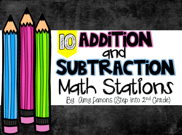 http://www.teacherspayteachers.com/Product/Addition-and-Subtraction-Math-Stations-1366300