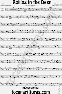 Rolling In The Deep Partitura de Chelo y Fagot Sheet Music for Cello and Bassoon