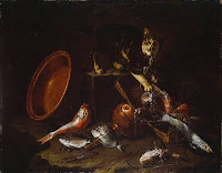 Guiseppe Recco (1634-1695): A Cat Stealing Fish