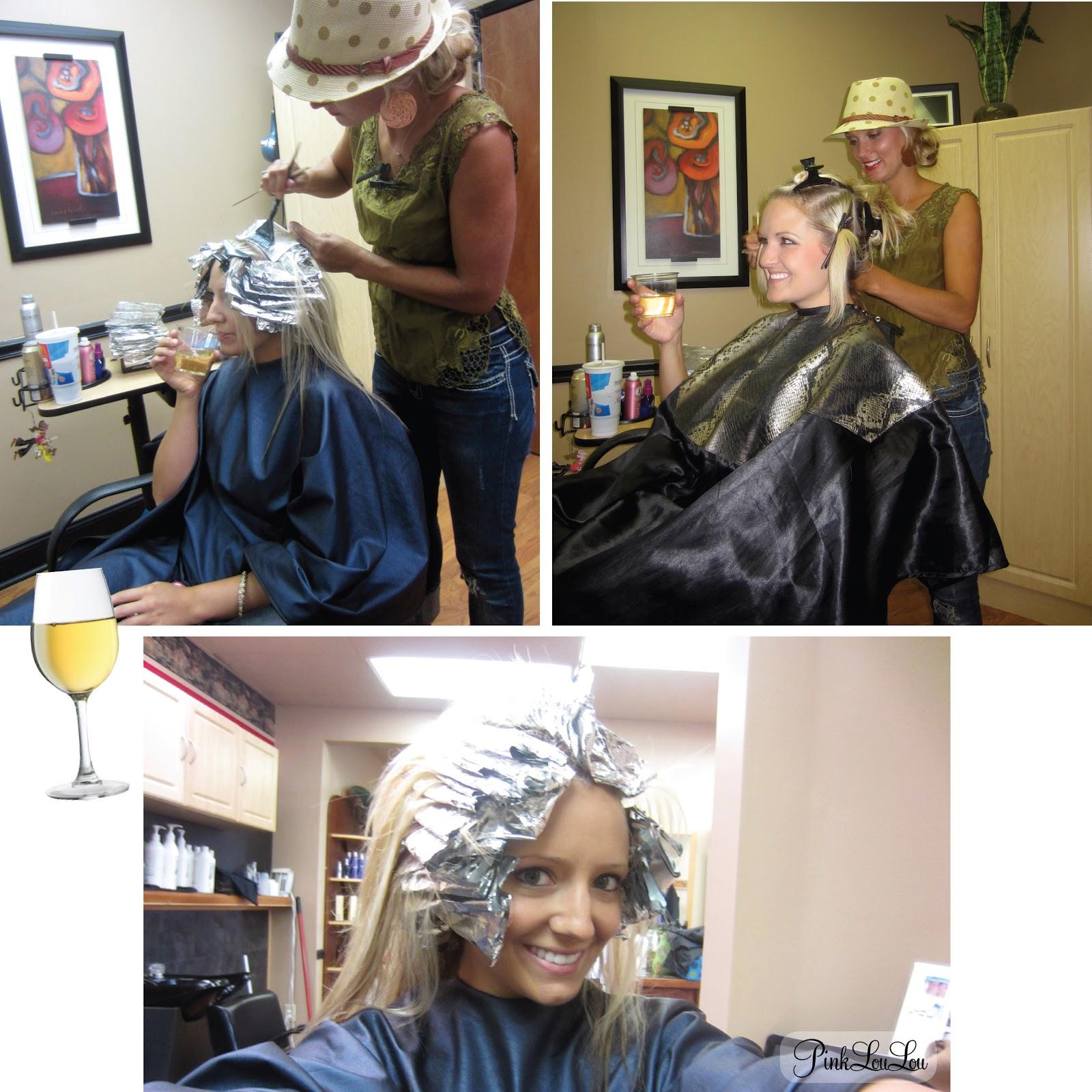 blonde mistress hair salon bondage