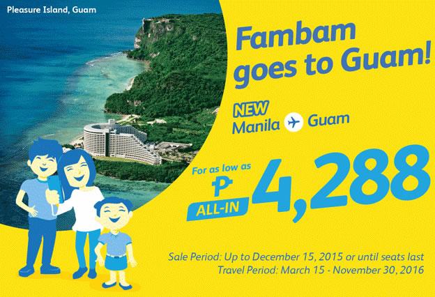 Manila to Guam Promo Fare 2016
