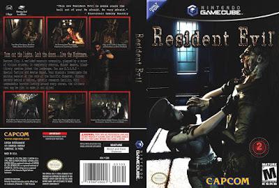 Jogo Resident Evil Remake GC DVD Capa