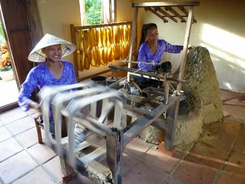 Tan Chau Silk making village in An Giang