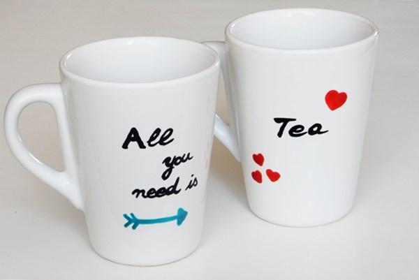 DIY : duo de tasses à thé