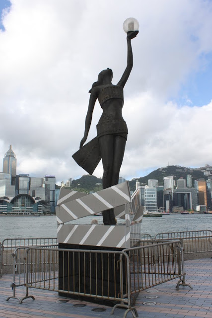 The famous icon of Hong Kong Film Awards at Avenue of Stars in Tsim Sha Tsui, Kowloon, Hong Kong