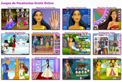 juegos de vestir Pocahontas
